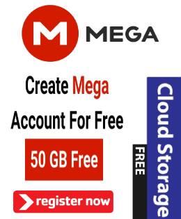 Get 50Gb Mega free