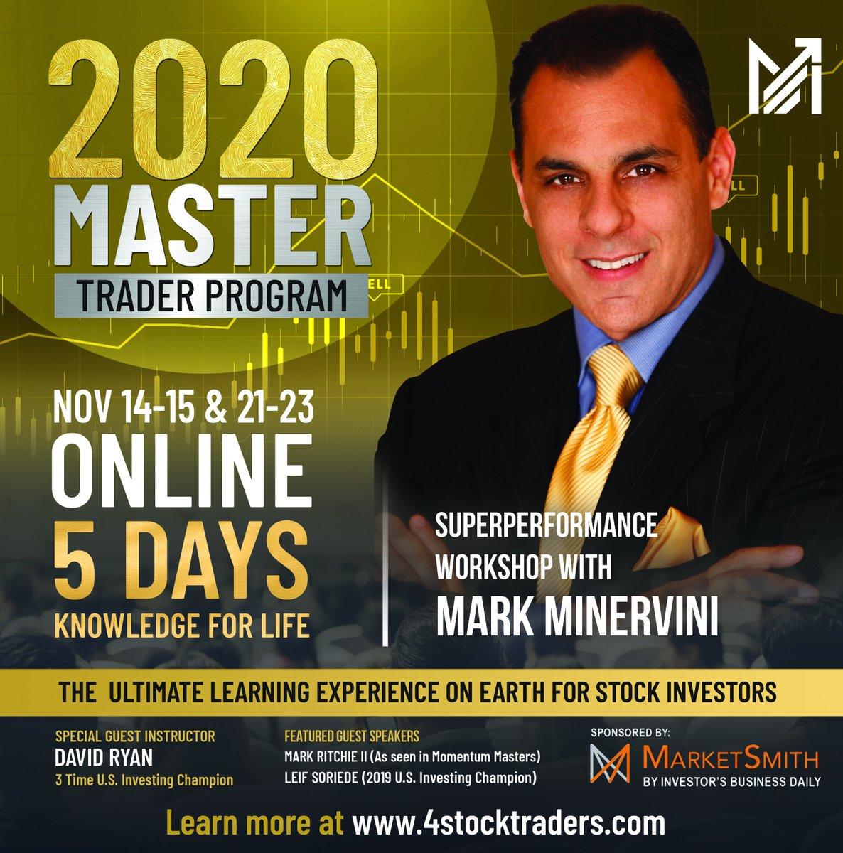 Mark Minervini – 5-Day Master Trader Program ONLINE EVENT