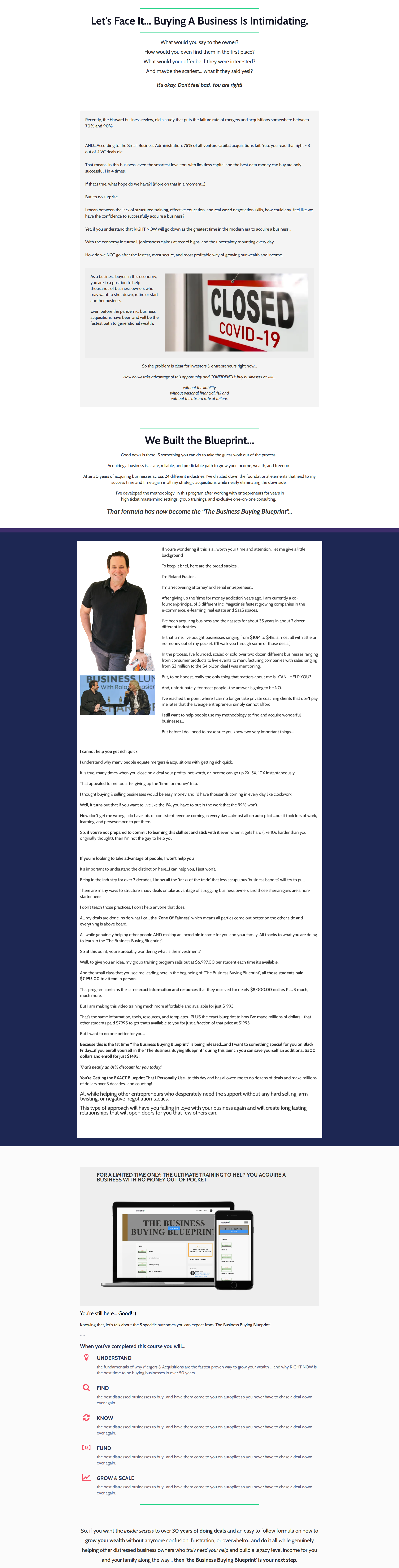 Roland Frasier – EPIC Business Buying Blueprint