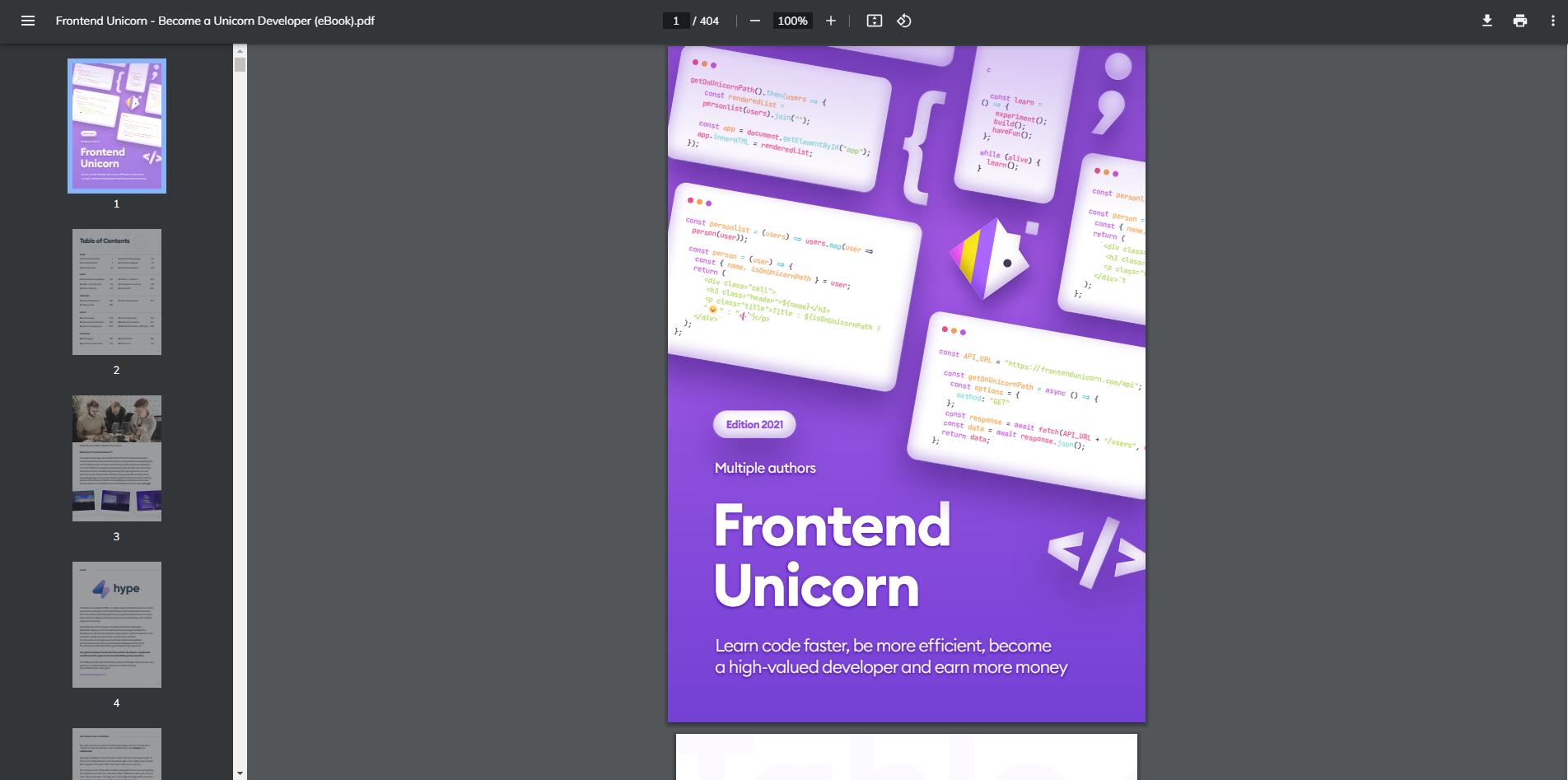 Frontend Unicorn - Become a Unicorn Developer (eBook)