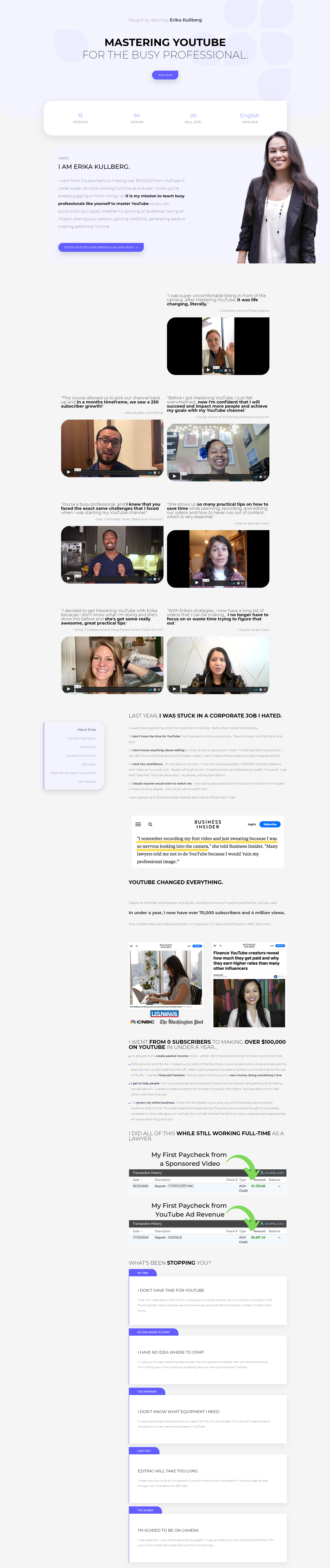 Erika Kullberg - Mastering YouTube for the Busy Professional