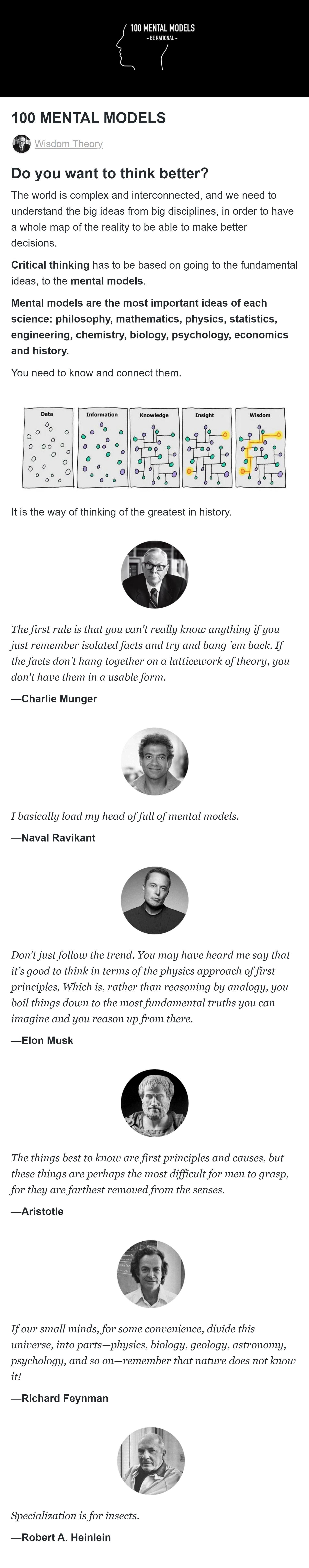 Wisdom Theory - 100 Mental Models